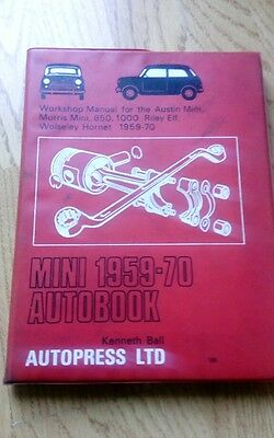Mini Workshop Manual Bmc Classis mini  mk1 elf hornet 1275gt 850 1000 FREEPOST