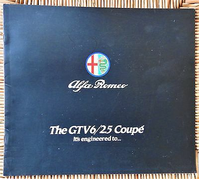 1982 Alfa Romeo GTV6/2.5 Coupé Brochure. Stored since new, excellent condition.