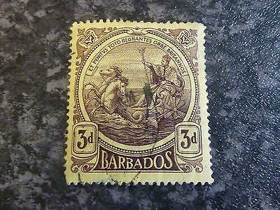 Barbados Postage Stamp Sg186A 3D Dp/yellow Fine Used
