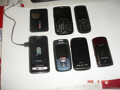 3 Cell Phones LOT LG Samsung Flip TMobile Scrap or Not