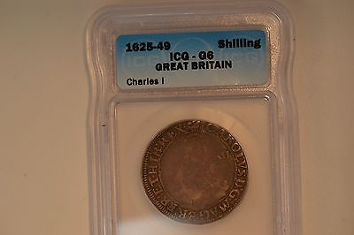 Great Britain: 1625-49 Shilling. Charles I- ICG G-6.  Nice, original coin.