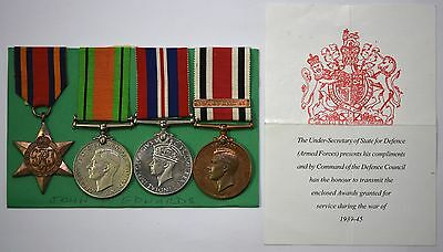 WW2 Burma Star, Defence, War And Special Constabulary Medals To John P Edwards