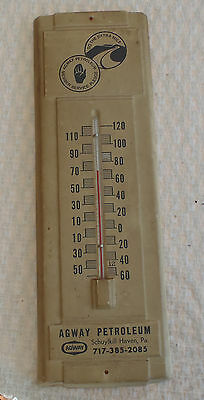 Vintage Agway Petroleum Thermometer oil, gas ,kerosene Advertising Schuykill PA