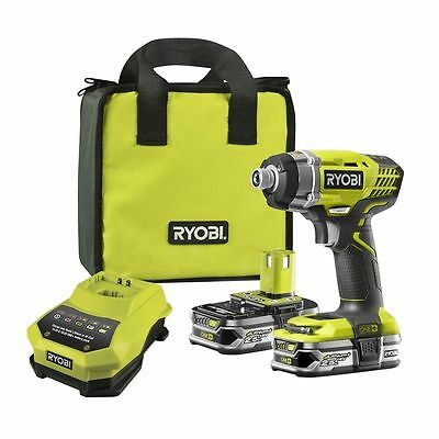 ™Ryobi One+18V Compact Cordless Impact Driver Kit 2 batteries Carry Bag Charger