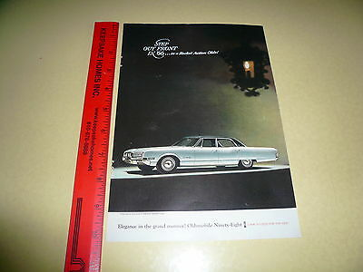 1966 Oldsmobile 98 Ad Advertisement Vintage