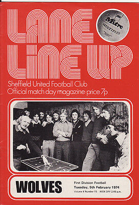 Sheffield Utd v Wolves First Division 1973/4