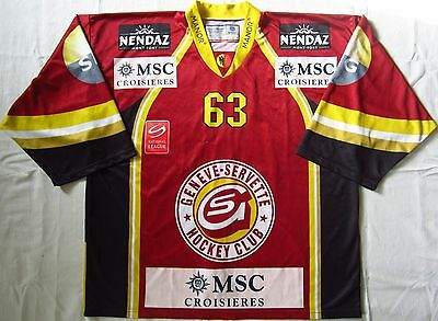 Geneve-Servette Switzerland Ice Hockey Shirt Jersey Swiss Reebok #63
