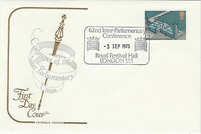 1975 G B FDC 62nd INTER-PARLIAMENTARY CONFERENCE