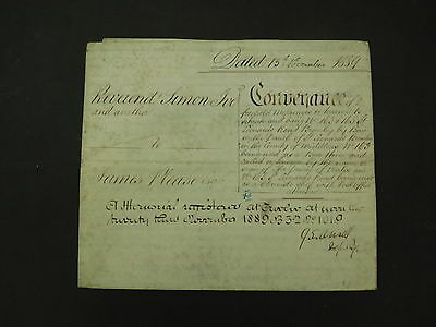 Antique Vellum Indenture 1889 Prince of Wales Beer House St Leonards Road London