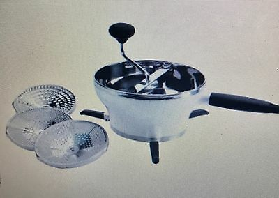 OXO Good Grips 2.3 Qt Stainless NEW Food Mill Grinder w/ 3 Discs