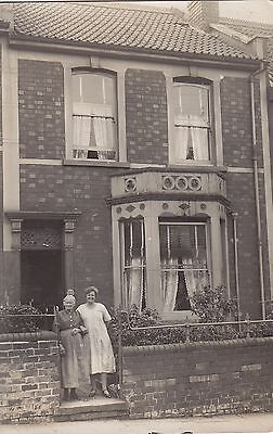 Mum & Daughter? in front of Their House Real Photograph Postcard.c.1910