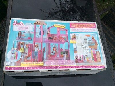 Barbie 3 Story Townhouse Fully Furnished NEW & Boxed