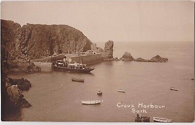 Rp Creux  Harbour , Sark  Real Photo C 1920