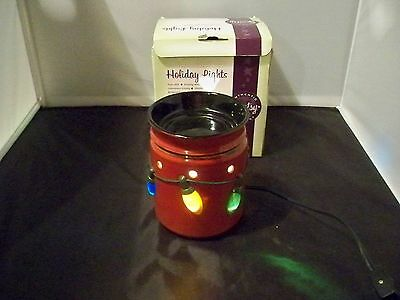 New holiday lights Scentsy Full Size wax warmer discontinued christmas holiday