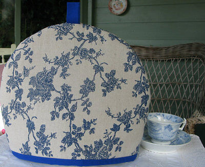 Handmade Linen/Cotton Tea Cosy for a Medium to Large Teapot