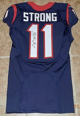 11JAELEN STRONG, 2016 NIKE, COA, Game Worn, HOUSTON TEXANS NFL Jersey Sz.38 L-BK