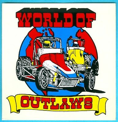 Sticker/Decal: WORLD OF OUTLAWS. WOO Sprint Car Racing. Dirt Track.