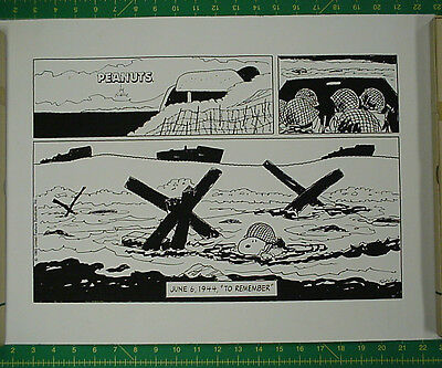Charles Schulz, Peanuts D-Day Strip, Veterans Day 1993