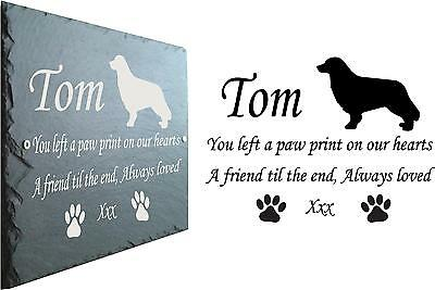 Pet Memorial Slate Plaque Personalised for your Nova Scotia