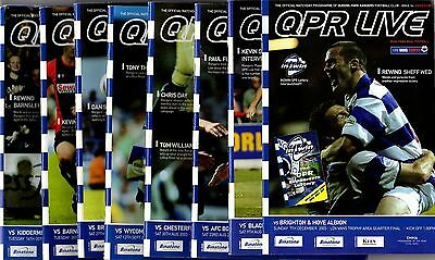 2003-2004 Queens Park Rangers Home Programmes - select one you want POST FREE