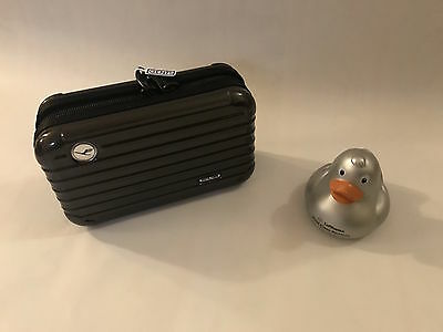 Lufthansa 747-8 First Class Rimowa Amenity Kit Brand New Gents and Rubber Duck