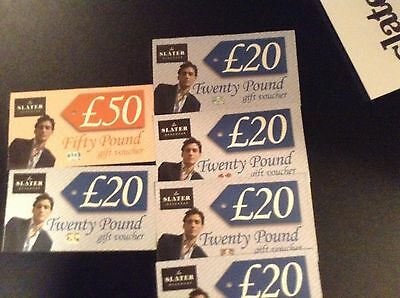 Slaters Menswear £150 Worth Of Gift Vouchers