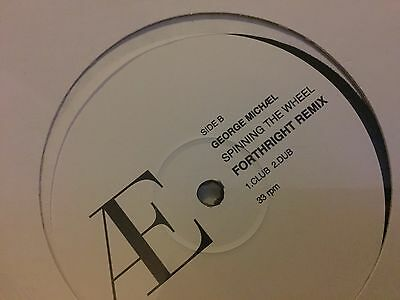 """George Michael Fastlove And Spinning The Wheel 12"""" Vinyl"""
