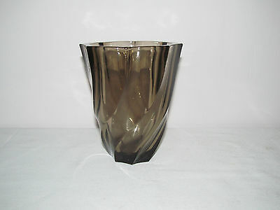 French Brown Glass Vase