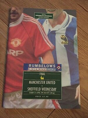 Rubelows League Cup Manchester United Vs Sheffield Wednesday 21.04.91