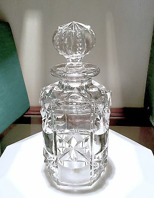 Beautiful Antique Heavy Deep Cut Crystal? Perfume Bottle Cologne Decanter