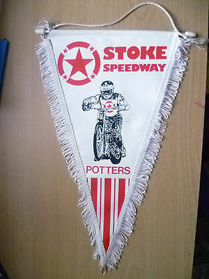 Speedway Pennants- STOKE POTTERS  SPEEDWAY Pennants (apx. 34x21cm)