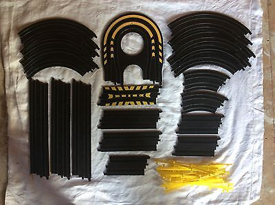 Scalextric Micro 20 Piece Track Bundle And Fencing Various As Listed