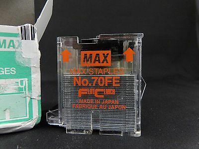 Max Staple 70FE Cartridge for EH-70F Flat Clinch Electric Stapler 5000/Box