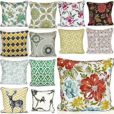 "Decorative Modern Cushions Covers 100% Cotton Multi Colors Size "" 20 x 20"""