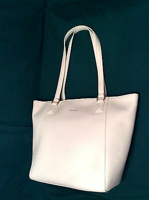 OYSTER White LEATHER Purse Vera Bradley Small ELLA TOTE Shoulder Bag Dust Cover