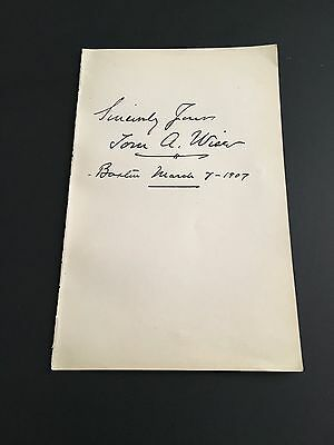 Tom A. Wise Signed Autograph Slip Actor Rare