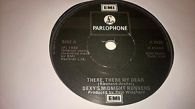 """DEXYS MIDNIGHT RUNNERS - There There My Dear - IRISH PRESSING 7"""" IRELAND"""