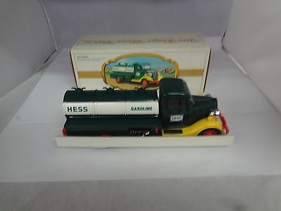 Vintage First Hess Truck Toy Bank 1982 With Box   J-899