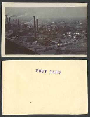 China Old Real Photo Postcard Chinese Factories & Chimneys Panorama General View