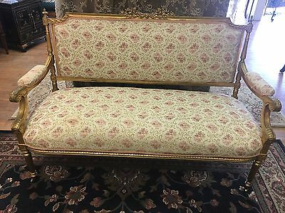 Outstanding Antique French Gilt Parlor Set