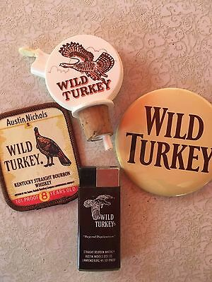 Wild Turkey Button, Patch, Pourer and Lighter