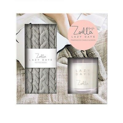 Zoella Beauty Lazy Days Gift Set Candle Socks Blogger Beauty Boots Mother's Day