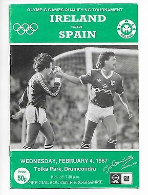 1987 IRELAND v SPAIN (Olympic Games Qualifier) * Exc Condition *