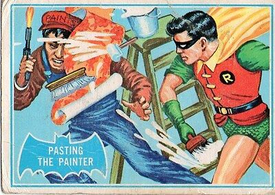 """BATMAN Card #27B """"PASTING THE PAINTER"""" 1966 National Periodical Publications INC"""