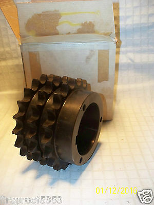 """Browning Drive Chain Sprocket 20 Tooth Triple Strand T60Q20 Bore 2.75"""" Nos"""