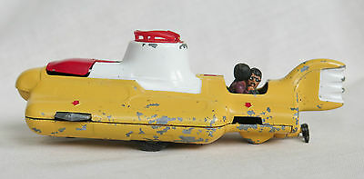Rare Vintage Corgi Toys # 803 Beatles Original Yellow Submarine 1969 Red Hatches