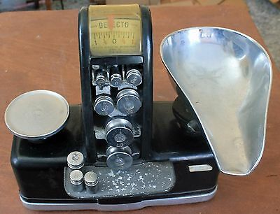 Vintage Detecto Candy Counter Scale with Scoop Pan and Balance Weights