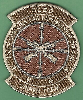 South Carolina Law Enforcement Division Sniper Team Police Patch W/ Hook & Loop