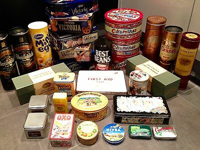 Vintage Retro Tin and Box Collection - Approximately 30 in Total