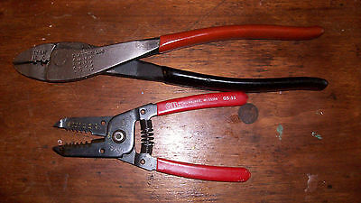 Thomas & Betts crimpers & Gardner Bender wire strippers set electrician pliers